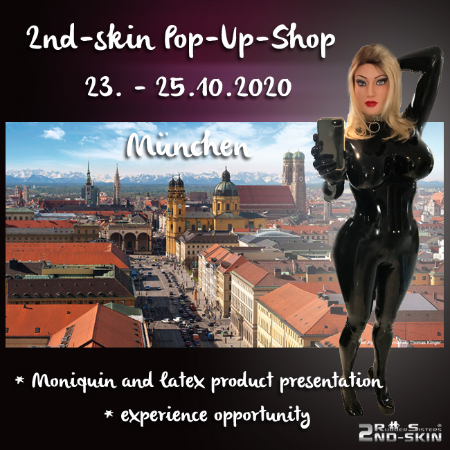 Rubbersisters / 2nd-skin Newsletter 2020/08 Pop-Up Shop Munich October 2020