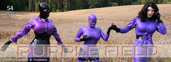 Rubbersisters / 2nd-skin Newsletter 2020/08 Purple Field Update