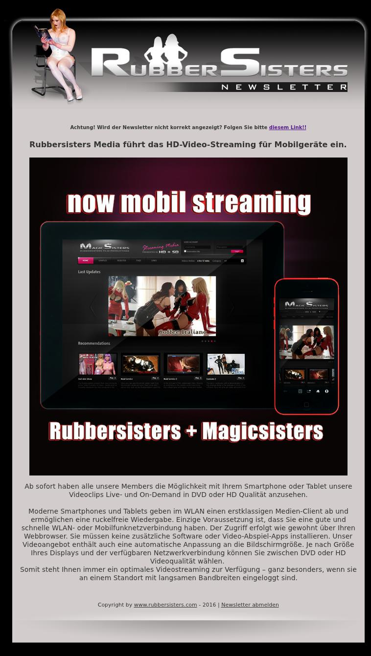 Rubbersisters - News No.11/2016