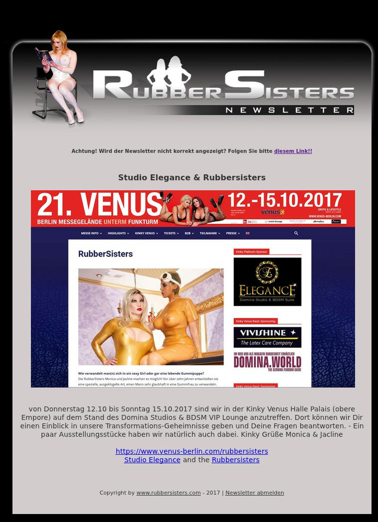 Rubbersisters - News No.10/2017